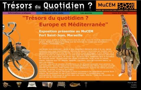 La page d'accueil du site web de l'exposition