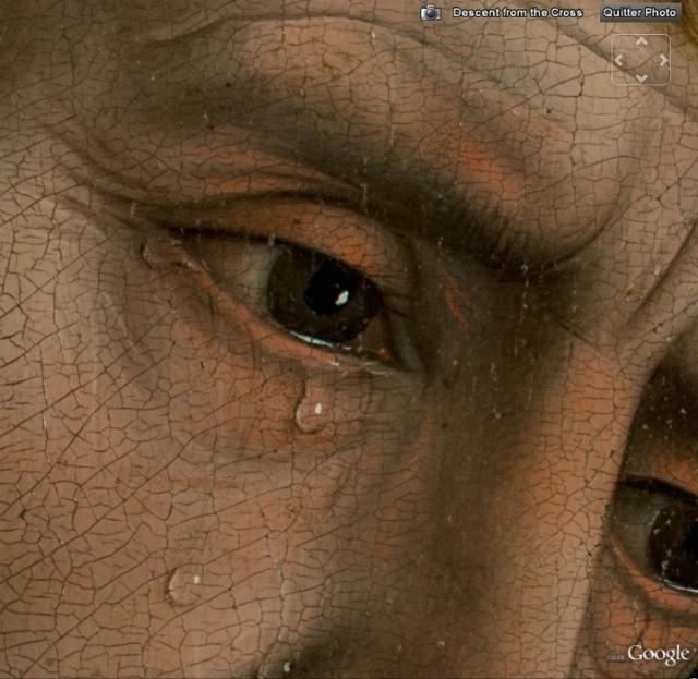 extrait du tableau la descente de croix de van der Weyden